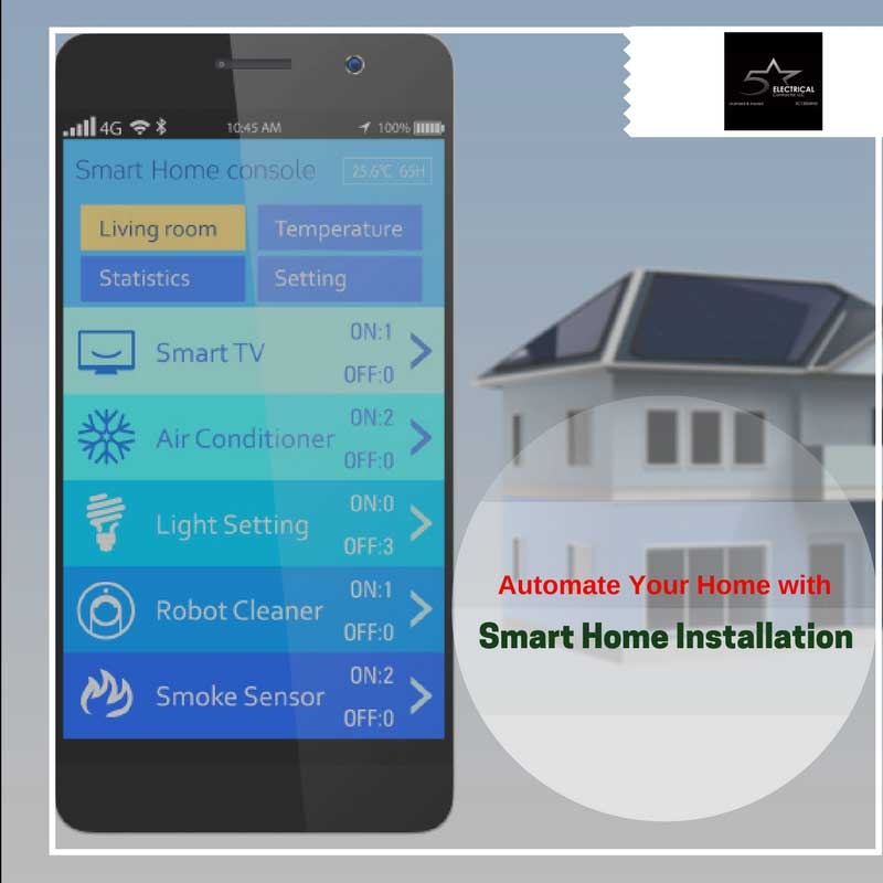 automate your home with smart home installation 5 star. Black Bedroom Furniture Sets. Home Design Ideas